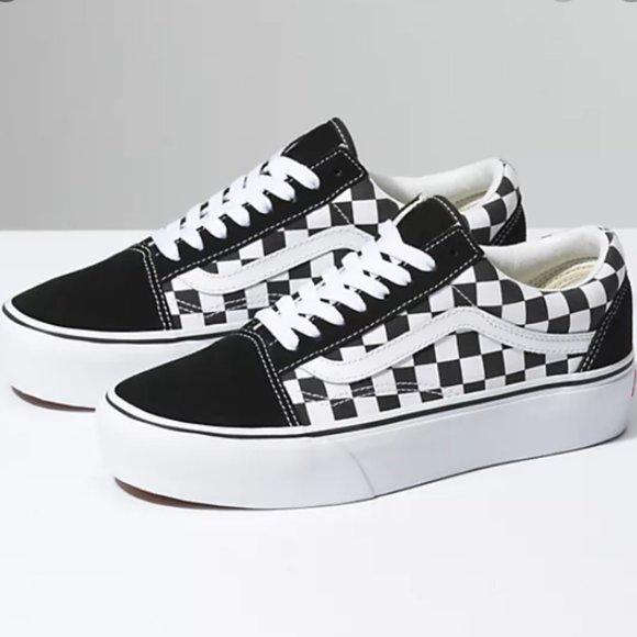 Vans Checkerboard Old Skool Platform Eu